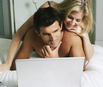 Вместе смотрят порнуху