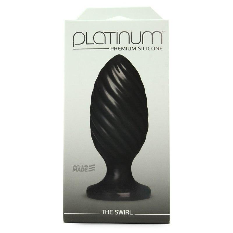 Анальная пробка Platinum Premium Silicone The Swirl – черный (Doc Johnson, США)