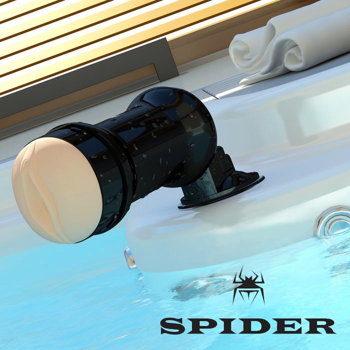Мастурбатор нового поколения Black Spider hands free от Он и Она