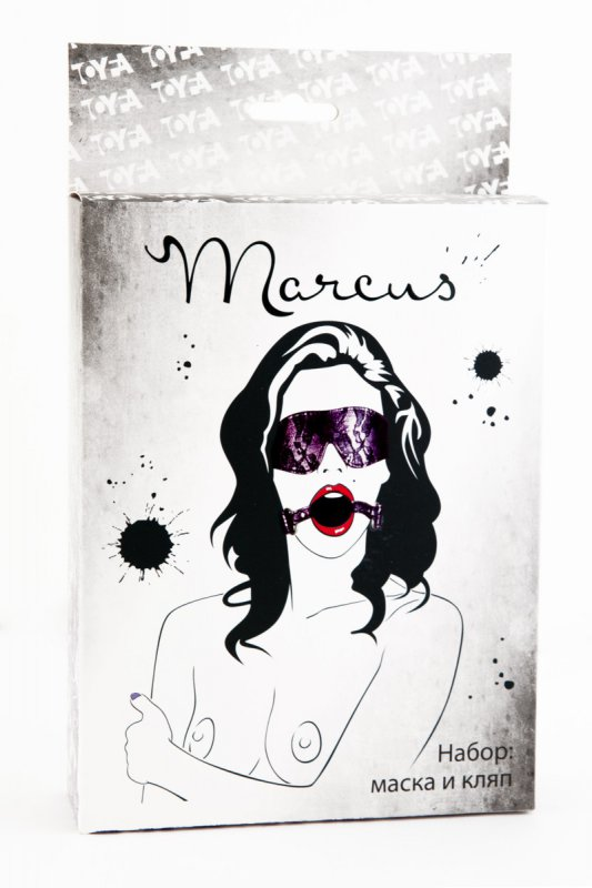 Кружевной набор маска и кляп TOYFA Marcus – пурпурный