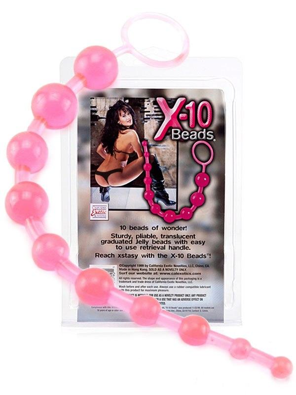 Анальная цепочка X-10 Beads – розовая