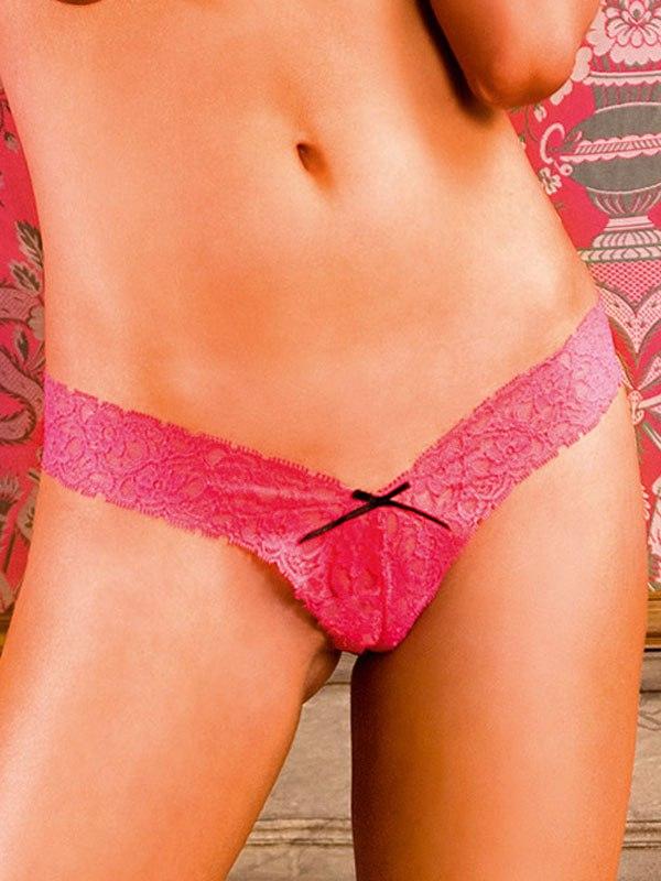 Здесь можно купить   Соблазнительные ярко-розовые трусики Lets Play - L Сексуальные трусики