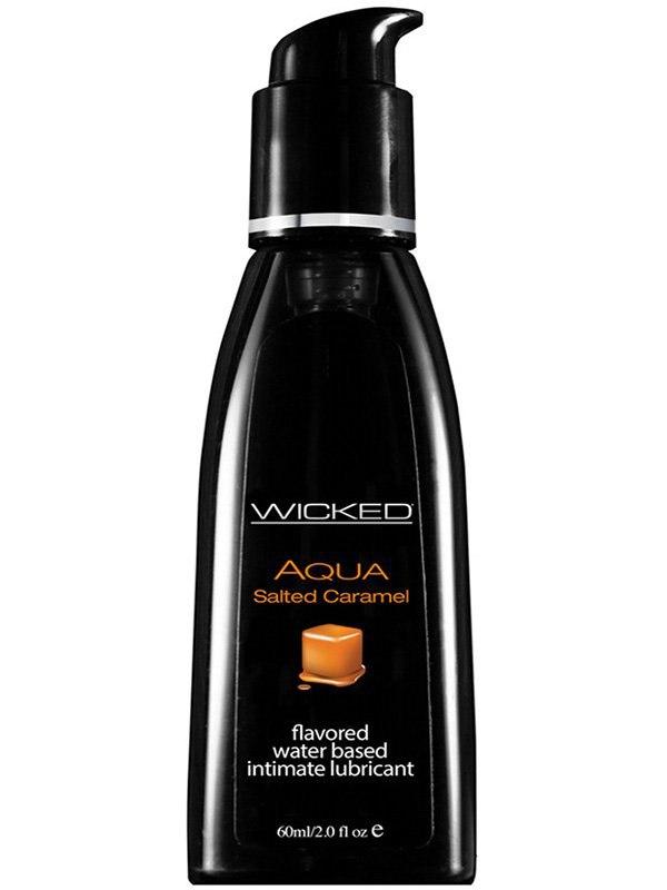 Лубрикант Wicked Aqua Salted Caramel со вкусом соленой карамели  60 мл