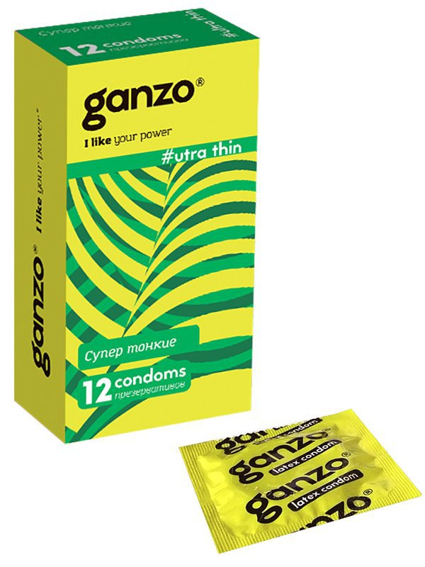 Презервативы Ganzo Ultra Thin ультратонкие – 12 шт