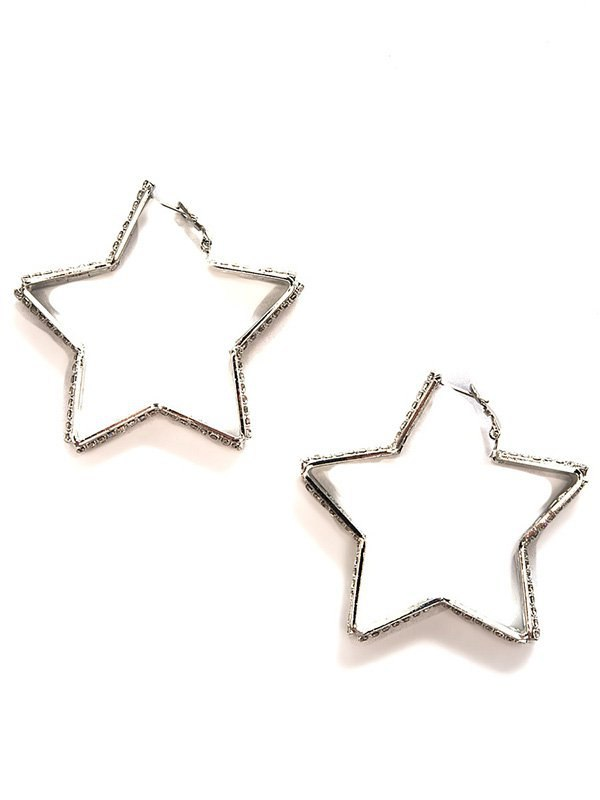 Серьги-звездочки Ann Devine - Diamond Star с кристаллами – серебристый