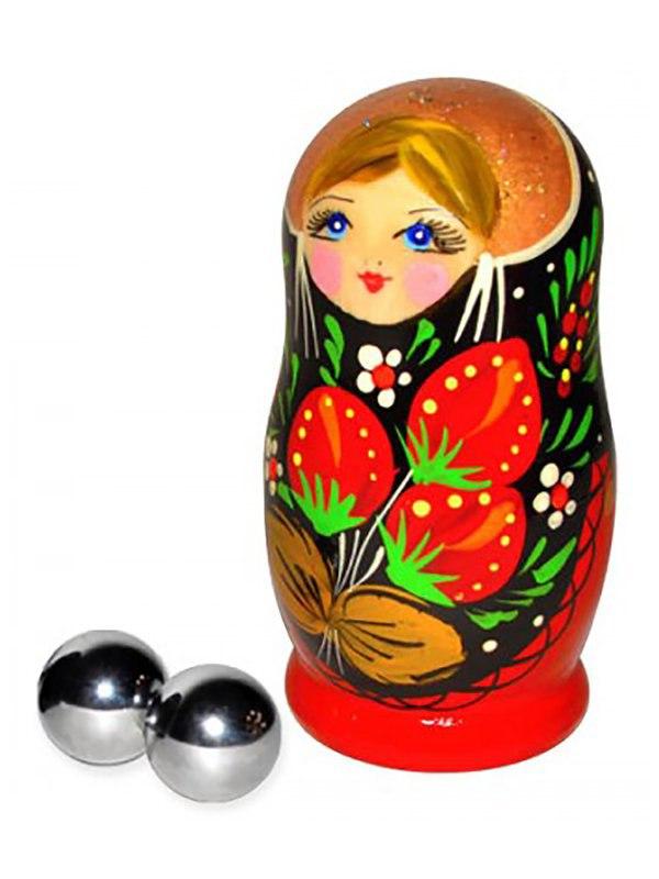 СК-Визит Маленькие вагинальные шарики Massage Balls металлические  серебристый