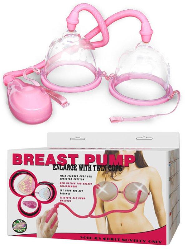 Двойная вакуумная автоматическая помпа для груди Breast Pump – розовый