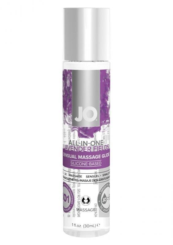 Лубрикант на силиконовой основе JO All-In-One Massage Glide-Lavender - 30 мл