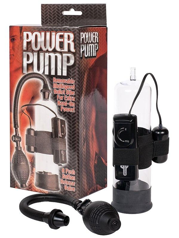 Вакуумная помпа Power Pump с вибрацией  черная