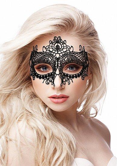 Кружевная маска на глаза открытого типа Queen Black Lace Mask