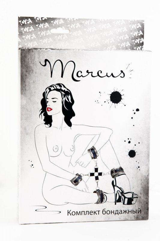 Кружевной бондажный комплект TOYFA Marcus – пурпурный