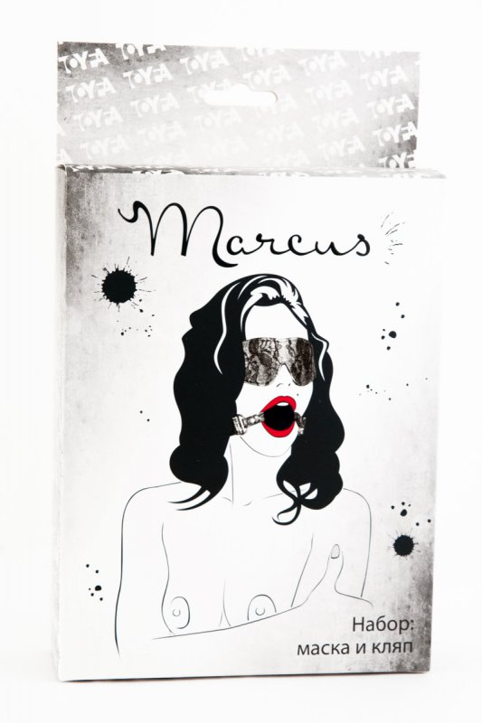 Кружевной набор маска и кляп TOYFA Marcus – серебристый