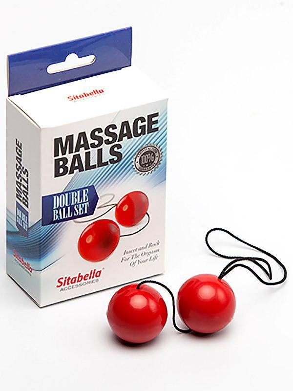 Вагинальные шарики Sitabella Massage Balls пластиковые – красный