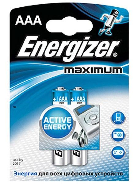 Литиевые батарейки Energizer AAA Maximum - 2 шт.