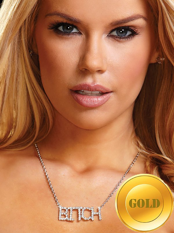 Цепочка с подвеской Ann Devine - Bitch Necklace – золотой трусики тонг ann devine crotchless красные l