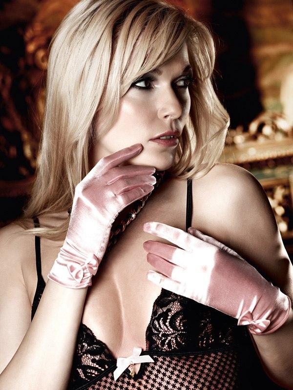 Короткие нежно-розовые перчатки Have Fun Princess