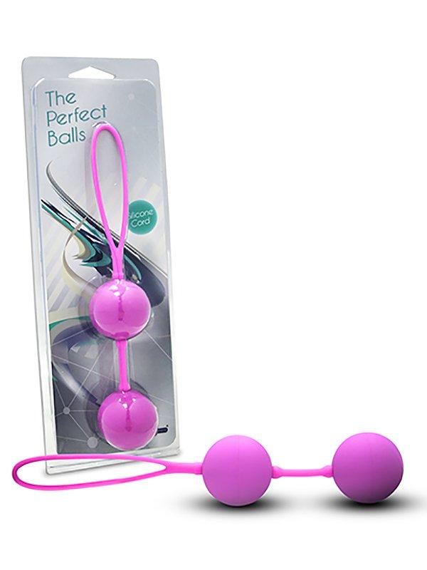 Вагинальные шарики The Perfect Balls на сцепке – розовый