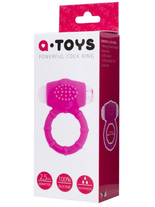 Эрекционное кольцо на пенис TOYFA A-Toys с вибрацией – розовый