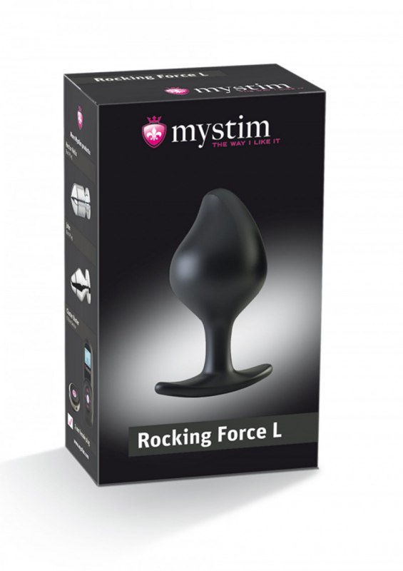 Анальная пробка Buttplug Rocking Force L - черный