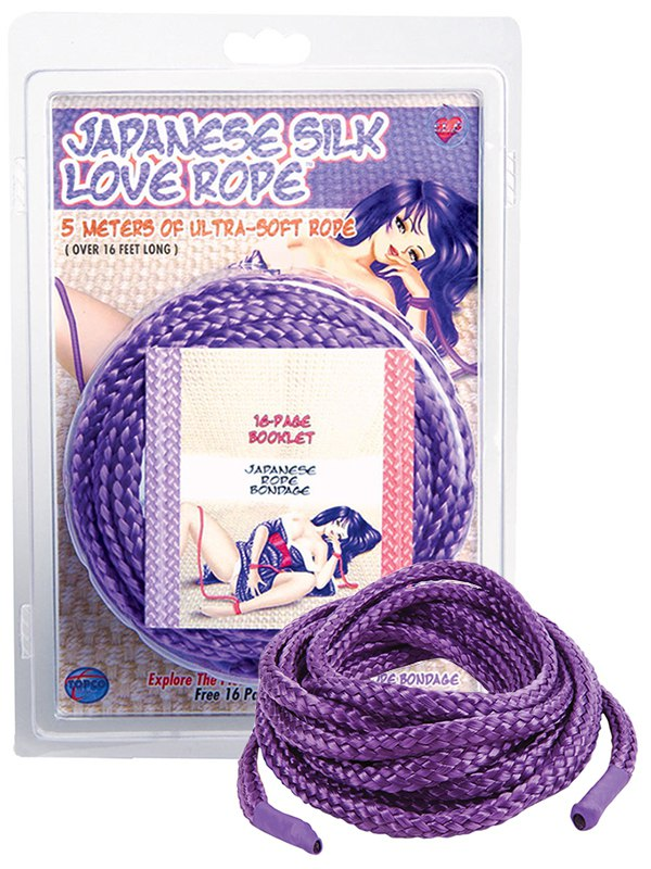 Веревка для связывания TLC Japanese Silk Love Rope 5 м – фиолетовая от Он и Она