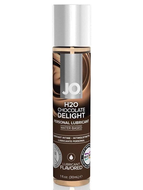 цена на Съедобный лубрикант JO Flavored Chocolate Delight - 30 мл