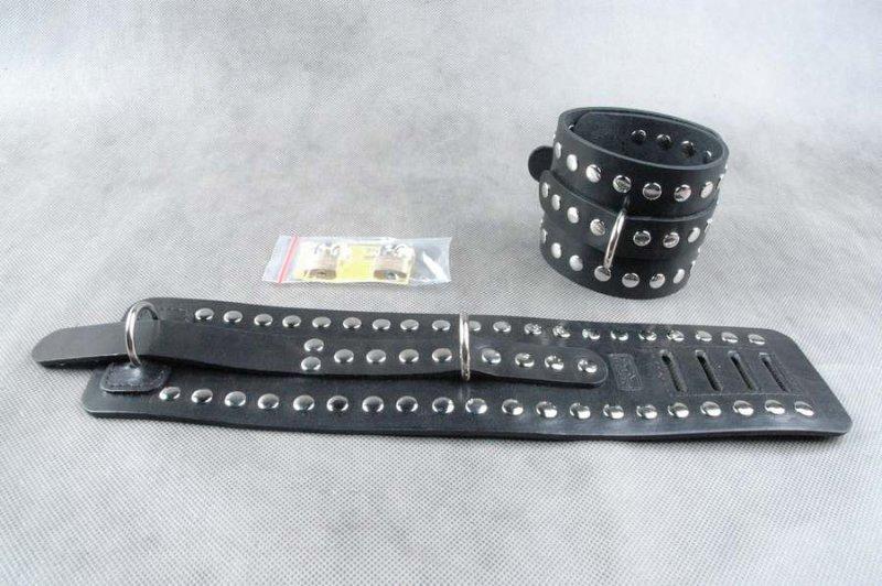 Кожаные наножники Бистли Аксессориз без соединительной фиксации - черный