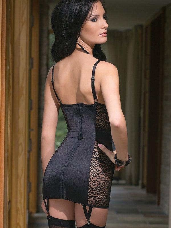 Сексуальная в чулках и платье #15