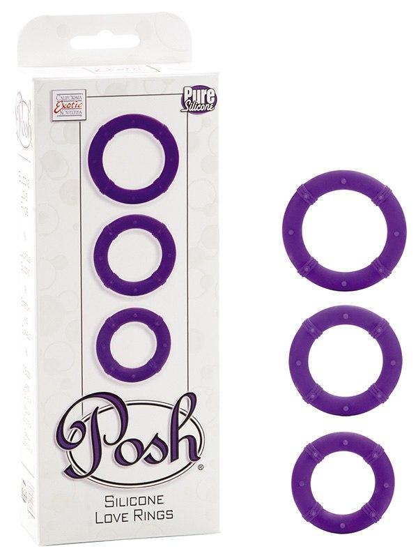 Набор эрекционных колец Posh фиолетовый