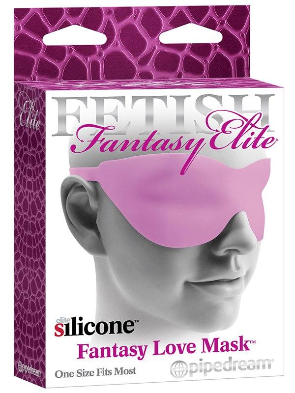 Маска на глаза Fantasy Love Mask - розовая