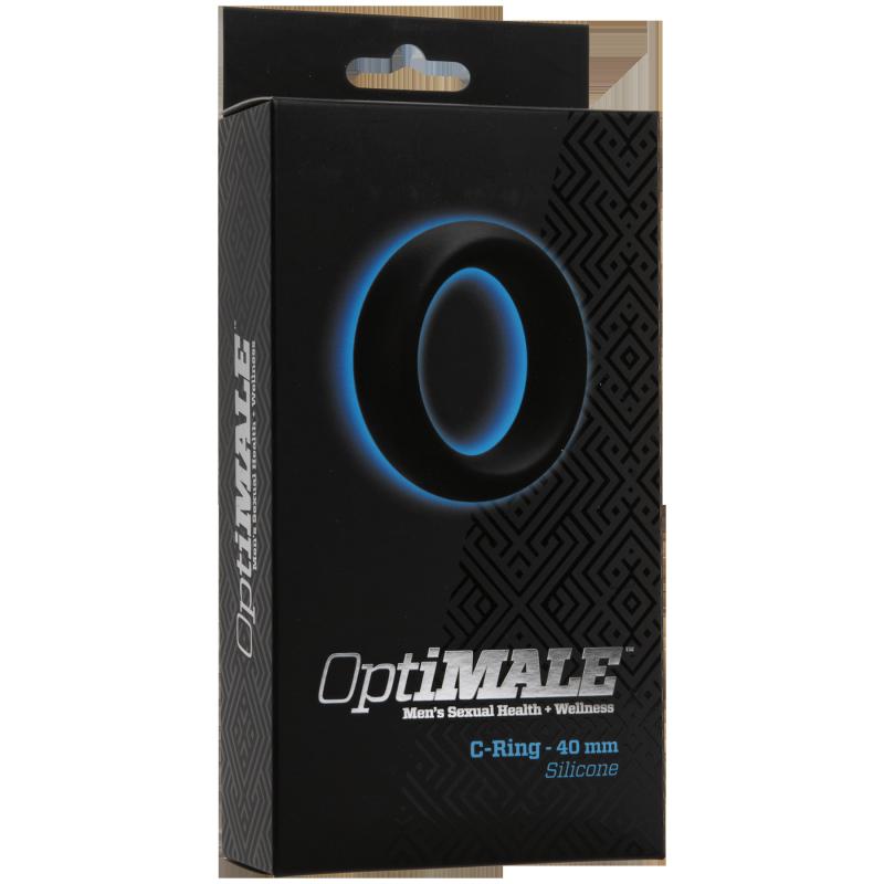 Кольцо эрекционное OptiMALE C-Ring Thick 40mm  черный (Doc Johnson, США)