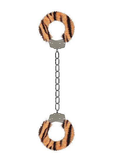 Металлические наножники с меховой обивкой для щиколоток Furry Ankle Cuffs (тигровые)