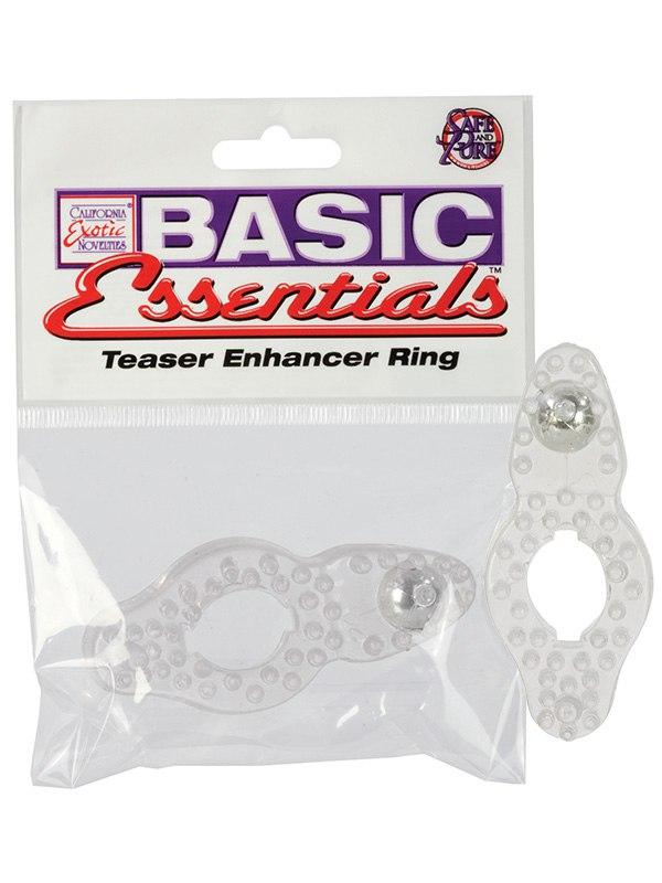 Эрекционное кольцо Basic Essentials - Teaser Enhancer Ring эрекционное виброкольцо bathmate vibe ring eight