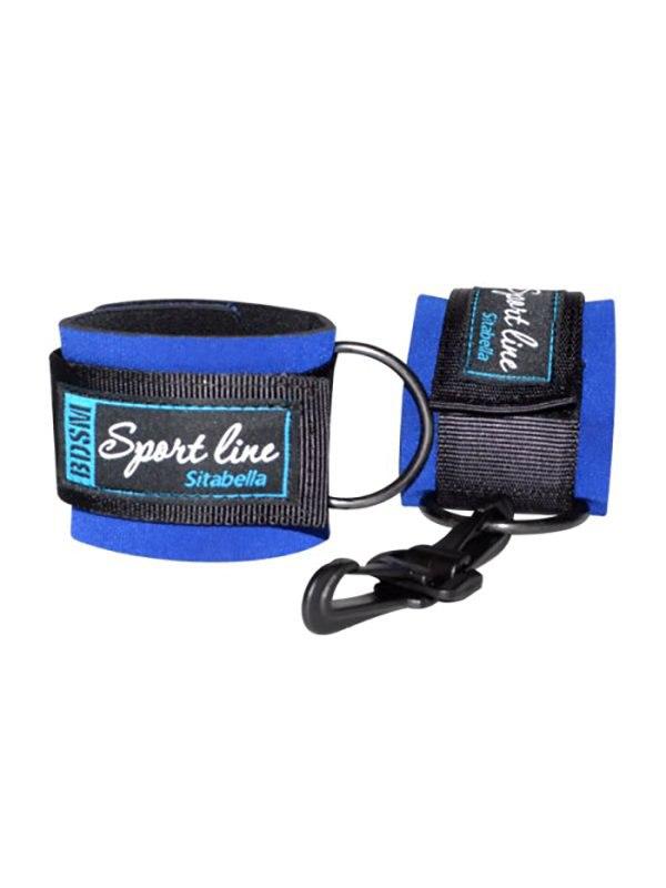 Фото - Наручники Sitabella на липучках - синий ouch silicone cuffs черные наручники на запястья и лодыжки