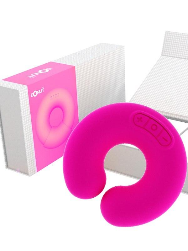 Универсальный дизайнерский стимулятор Donut - розовый (ZINI, Корея)