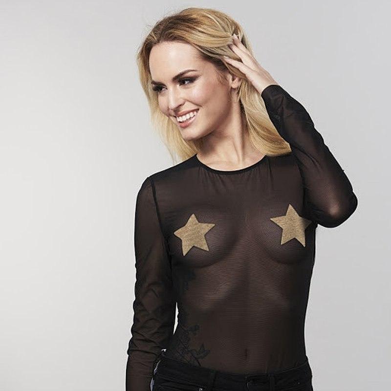 Украшение на грудь Flash Star в виде звезды – золотистый