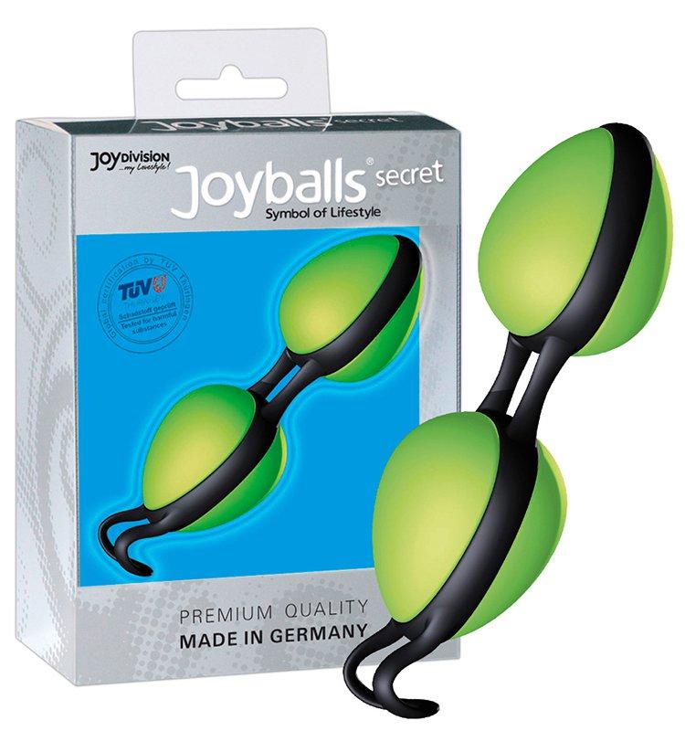 Вагинальные шарики Joyballs Secret со смещенным центром тяжести – зеленый