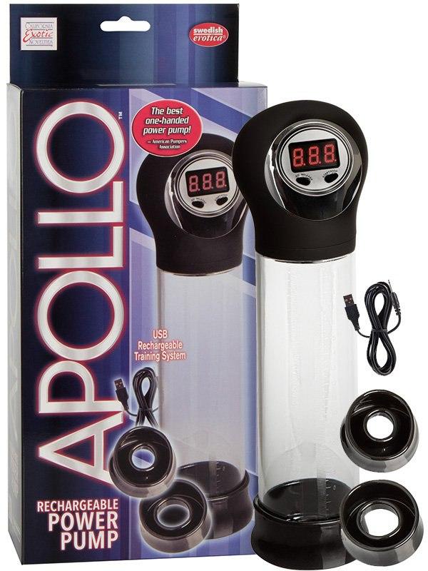 Автоматическая вакуумная помпа Apollo перезаряжаемая – черная от Он и Она