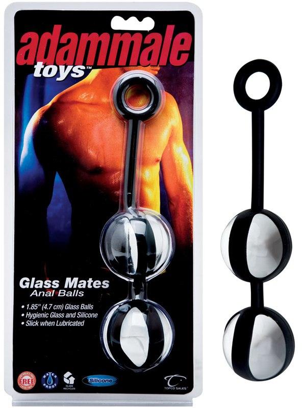 Анальные шарики из стекла Glass Mates Anal Balls