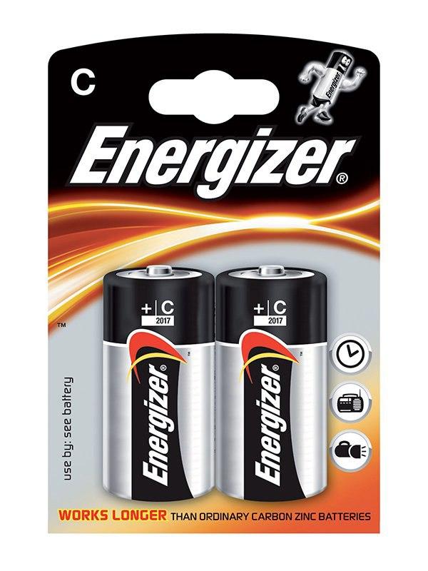 батарейки c lr14 24шт gp щелочные 14a os2 24 Алкалиновые батарейки Energizer C Base (PLUS) LR14 – 2 шт.