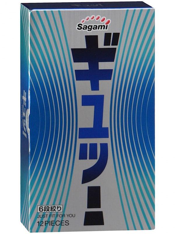 Латексные презервативы Sagami 6 FIT-V - 12 шт. (Sagami, Япония)