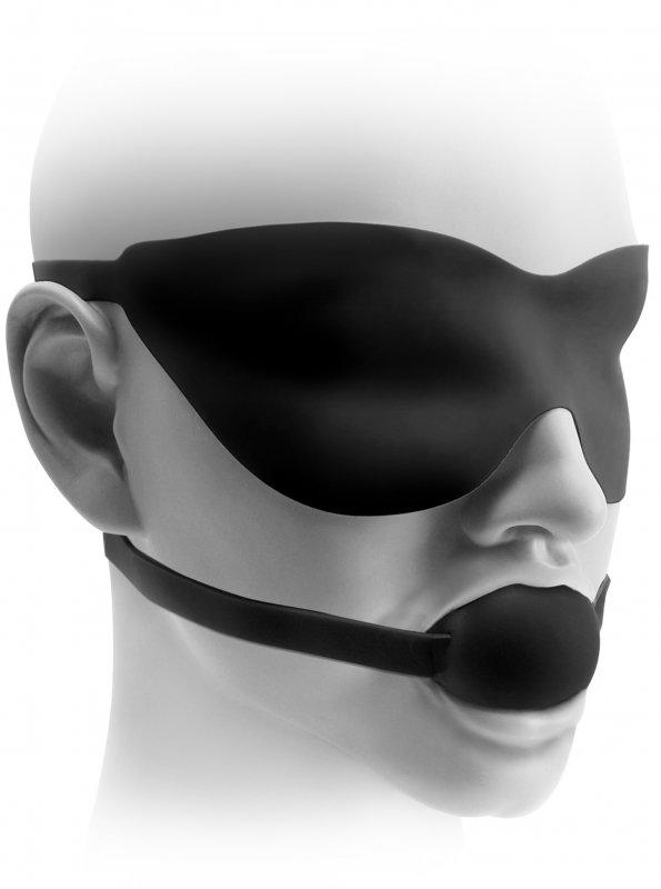Кляп и маска на глаза Fetish Fantasy Elite - Black