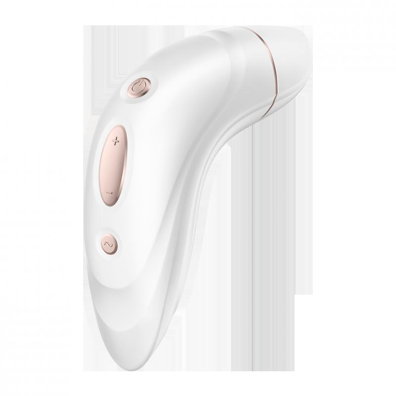 Вакуумно-волновой вибростимулятор клитора Satisfyer Pro Plus Vibration – белый с золотом
