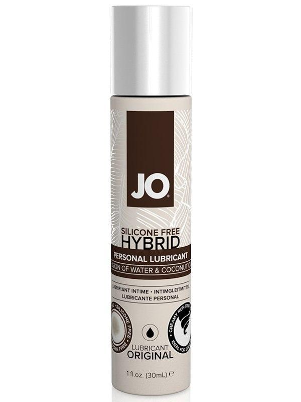 Гибридный лубрикант JO Silicone-Free Hybrid Original с маслом кокоса – 30 мл от Он и Она