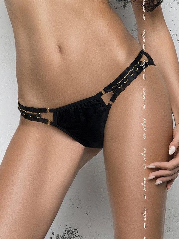 Черные полупрозрачные трусики Изабелла (Me Seduce) – L/XL