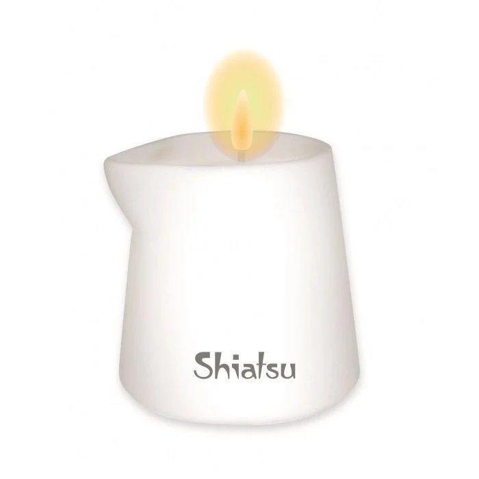 Массажная свечка с ароматом Малина и Ванильный крем Shiatsu 130 гр