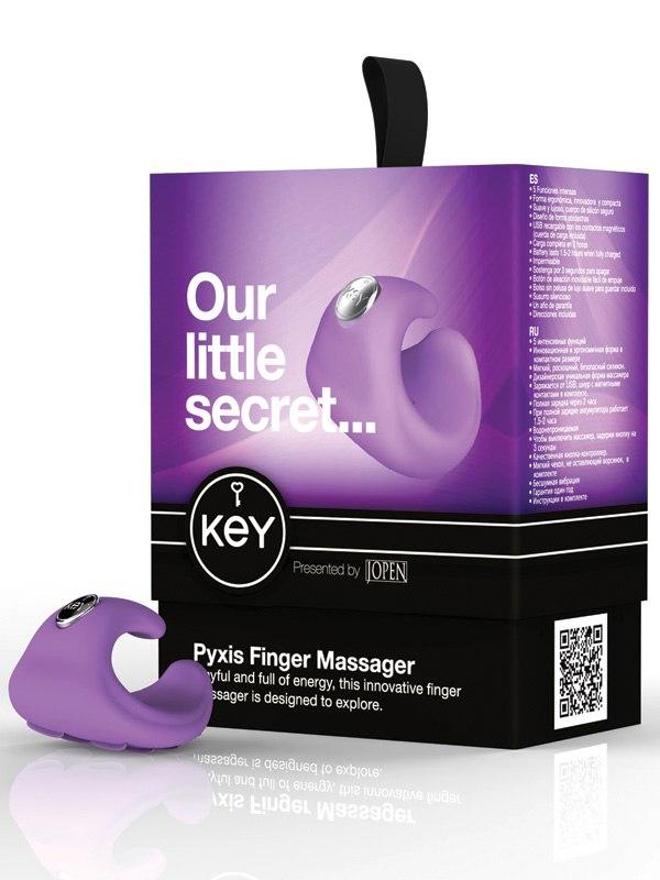 Водонепроницаемый вибромассажер на палец Pyxis - Lavender от Он и Она