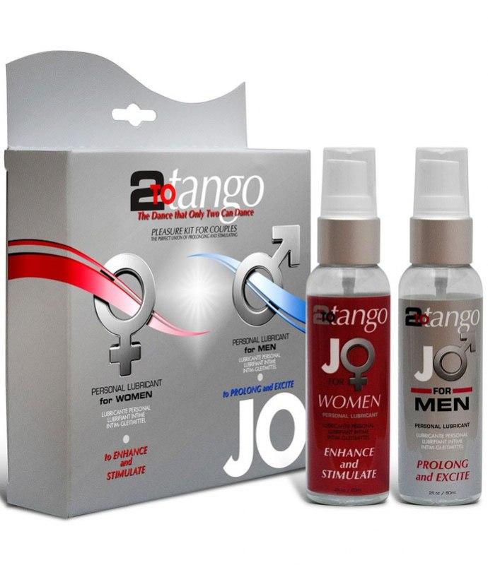 Комплект возбуждающих лубрикантов для семейных пар JO 2-To-Tango - 2х60 мл JO system