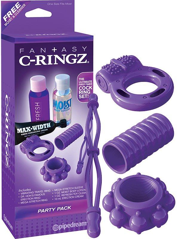 Набор эрекционных колец Party Pack – фиолетовый