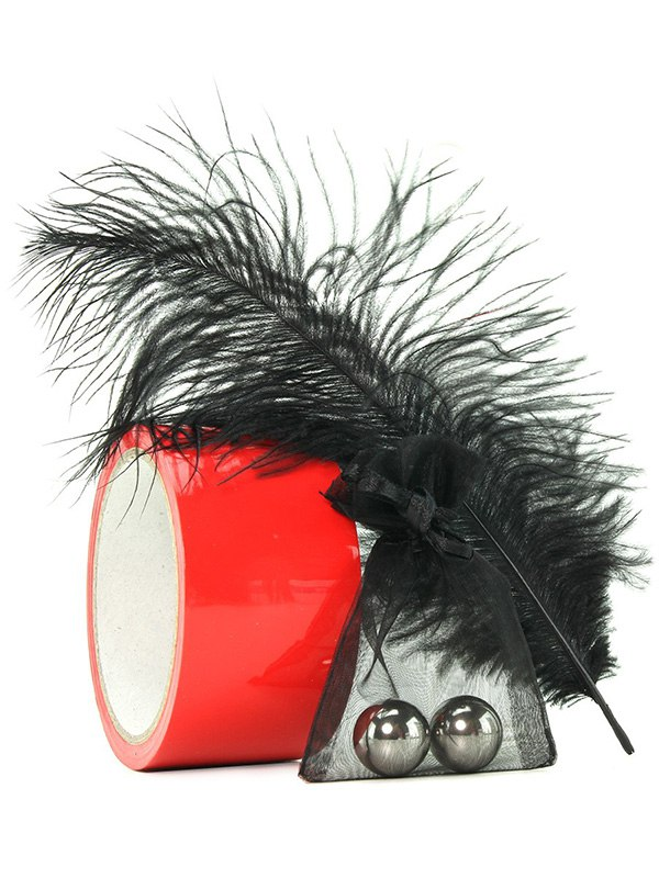Игровой набор Scandal Red Room Kit металлические шарики, скотч, перо
