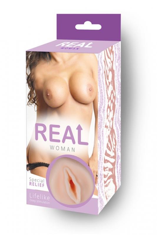 Реалистичный мастурбатор вагина Real Woman Мулатка – телесный